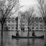 Fort Garry campus during the flood of 1950. // PHOTOS FROM UNIVERSITY OF MANITOBA DIGITAL ARCHIVE COLLECTION