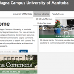 Screen shot of Magna Campus - U of M page.