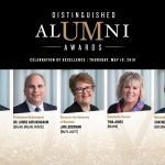 2018 Distinguished Alumni Award Recipients: Paul Soubry, Dr. Lorrie Kirshenbaum, Tina Jones, Jan Lederman and Dr. Shayne Reitmeier