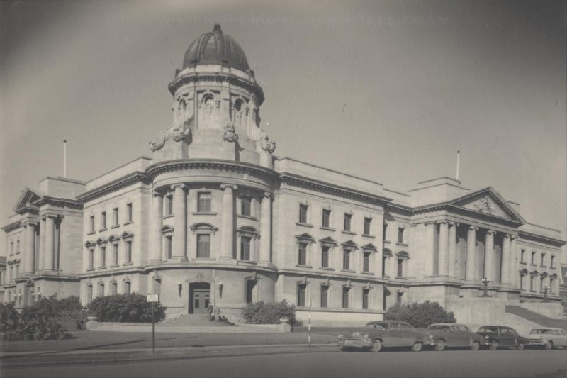 Manitoba Law Courts building, one of the former homes of the Manitoba Law School, prior to 1969.