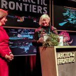 Dr. Dorthe Dahl-Jensen receives the 2020 Mohn Prize - Photo: Alberto Grohovaz / Arctic Frontiers 2020.