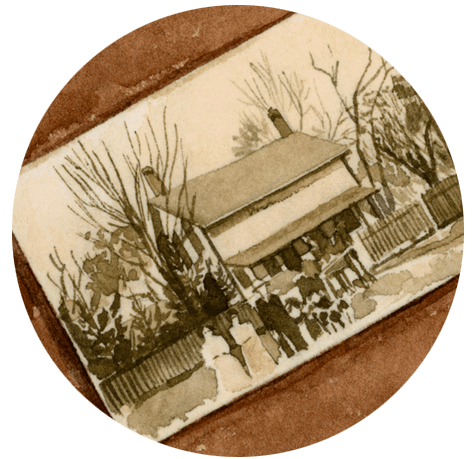 An illustration of old photo albums.